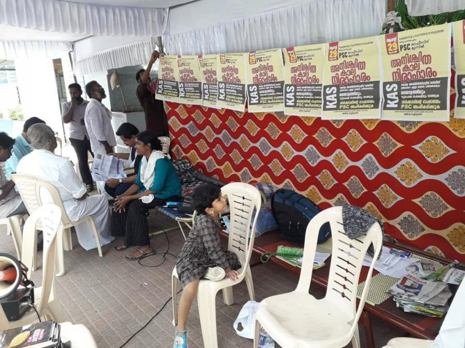 An indefinite strike by activists under the banner, 'Aikya Malayala Prasthanam' (United Malayalam Forum) has reached the 18th day on Saturday.