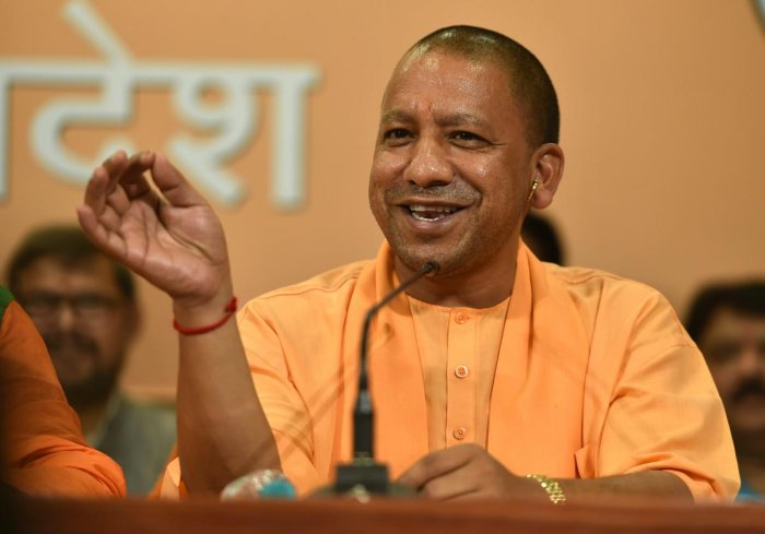 Adityanath has been visiting the poll-bound districts and inaugurating developmental schemes worth hundreds of crores, apparently realising that the model code of conduct will come into force once the date of the polls are declared. Photo/PTI