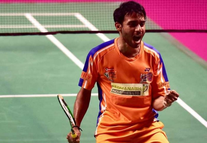 Second seed Sourabh, who has won the Hyderabad Open and Slovenian International earlier this year, recovered from a mid-game slump to beat Sun 21-12 17-21 21-14 in the summit clash which lasted an hour and 12 minutes. (PTI File Photo)
