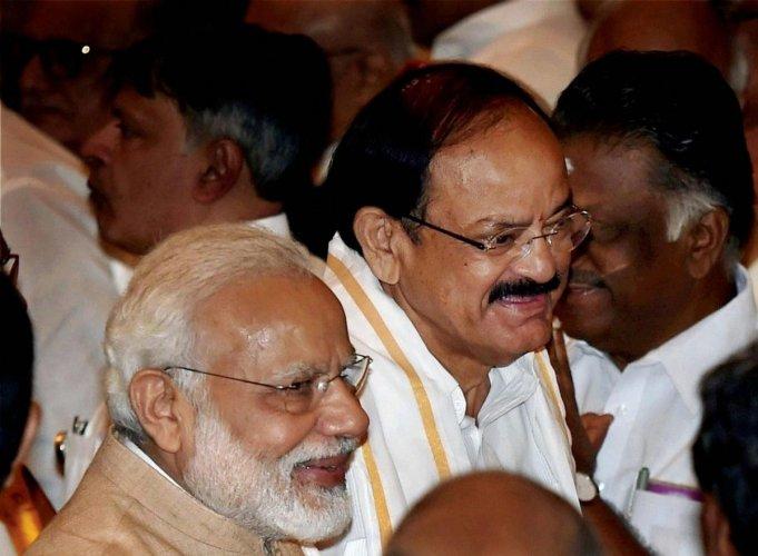 Vice President M Venkaiah Naidu and Prime Minister Narendra Modi (PTI Photo)