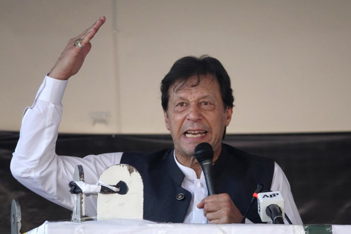 """Khan said he """"absolutely"""" believes war with India could be a possibility. (Reuters Photo)"""