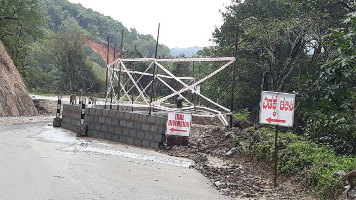 The site of a landslide on Charmadi Ghat. DH photo.