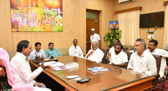 Nanded peoples representatives with CM KCR