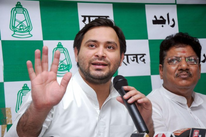 Several party leaders have expressed their displeasure over the style of functioning of Opposition leader Tejashwi Yadav. Photo/PTI