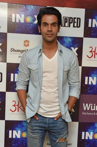 Rajkumar Rao, Hindi film Tapped actor at INOX Garuda Mall in Bengaluru. Photo by S K Dinesh
