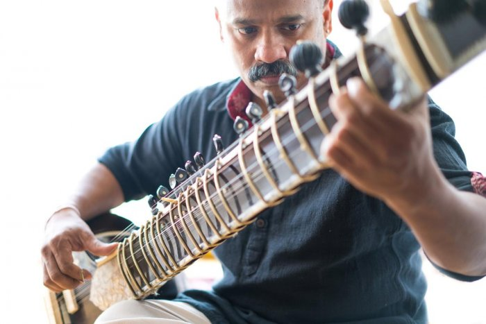 Rajeev Janardan on sitar.