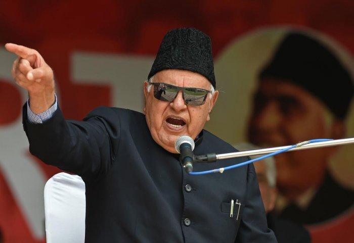 Former Jammu and Kashmir Chief Minister Farooq Abdullah. (AFP Photo)