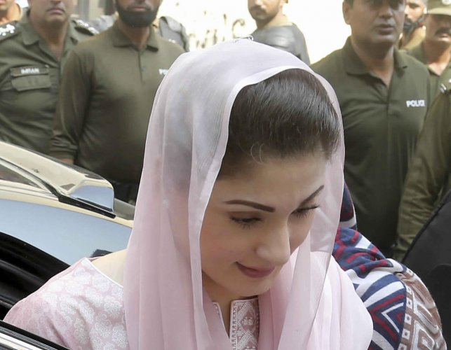 Maryam, 45, the Vice President of Pakistan Muslim League-Nawaz, is in the National Accountability Bureau's custody since August 8 in connection with the Chaudhry Sugar Mills (CSM) case. (AP/PTI Photo)