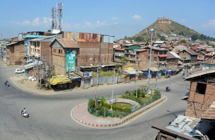 An aerial view of Kashmir (PTI Photo)