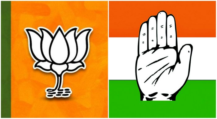 Maharashtra's political scenario with the alliances of BJP with Shiv Sena, and Congress with NCP.