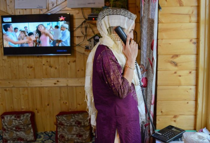 Landline telephone connections started working in the commercial hub of Lal Chowk and press colony in the early hours of September 5 but the communications blackout continues with virtually no mobile phone and internet services. (PTI Photo)