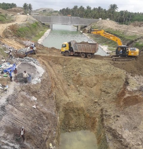 A view of Bhadra upper canal.