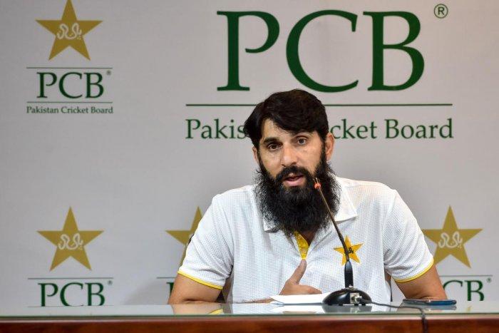 Pakistan's cricket head coach and chief selector, Misbah-ul-Haq. (AFP Photo)