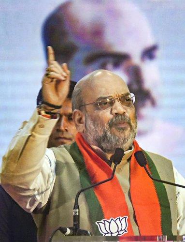 BJP chief Amit Shah. PTI Photo