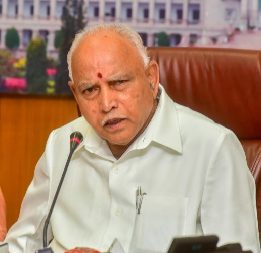 Chief Minister B S Yediyurappa