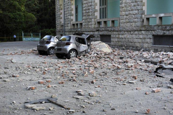 Damaged cars outside the Faculty of Geology building after an earthquake in Tirana (AP/PTI photo)