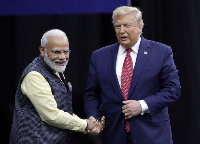 Prime Minister Narendra Modi and President Donald Trump. PTI Photo