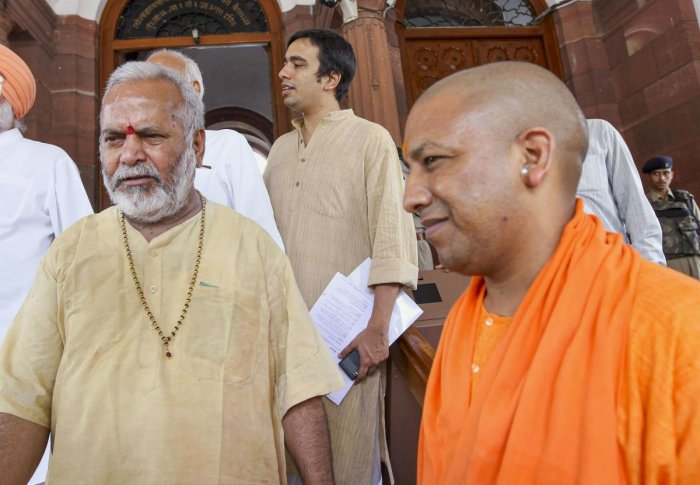 Doctors in Shahjahanpur had earlier referred Chinmayanand Swami (L) to Lucknow for angiography in view of his health condition (PTI File Photo)