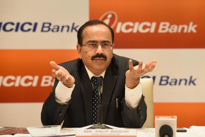 Lucknow: ICICI Executive Director Anup Bagchi addresses a press conference in Lucknow, Tuesday, Sept 3, 2019. (PTI Photo)
