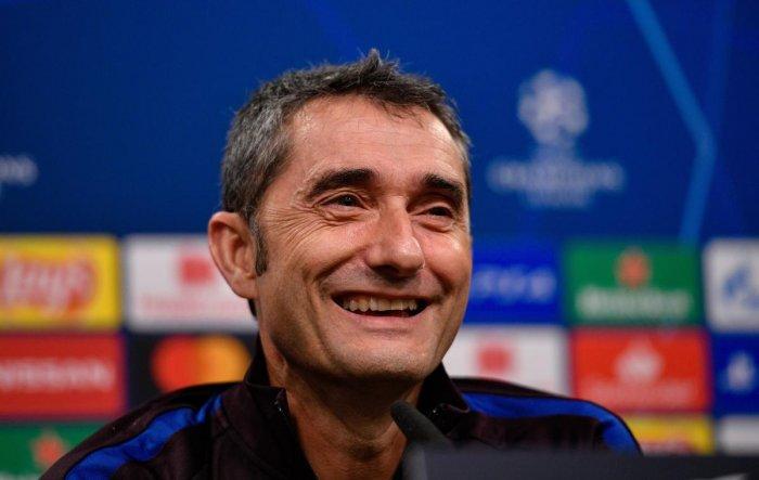Barcelona's coach Ernesto Valverde. (AFP File Photo)