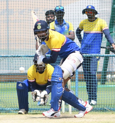 The addition of K L Rahul will provide the much-needed experience and strength to Karnataka's batting in the all-India one-day tournament for the Vijay Hazare Trophy. DH Photo/ Srikanta Sharma R