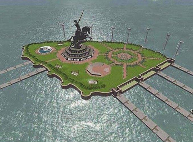 File photo of the proposed Shivaji memorial