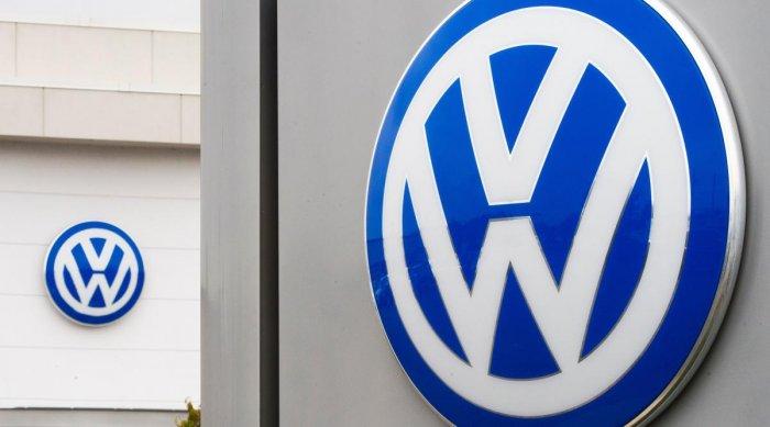 The logo of German car maker Volkswagen (VW) (Photo by AFP)
