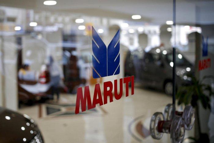 The logo of Maruti Suzuki India Limited. (Reuters Photo)