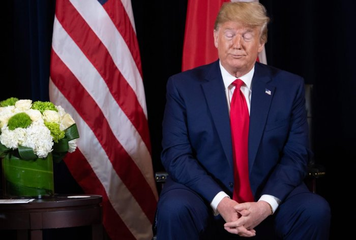 I would get a Nobel prize for a lot of things, if they give it out fairly, which they don't, Trump complained. Photo/AFP