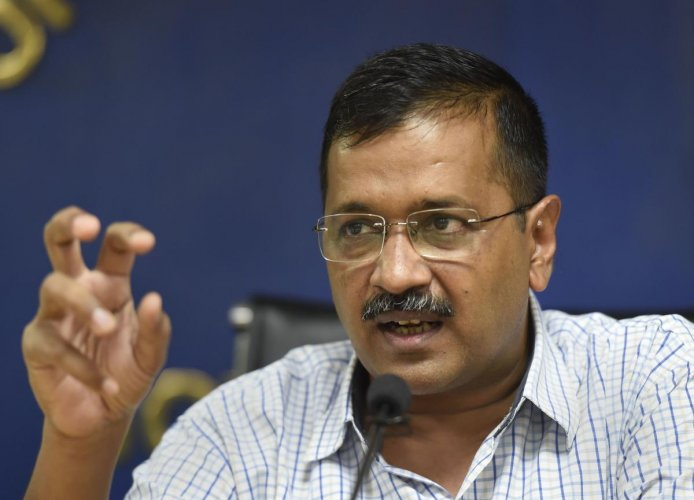 Delhi Chief Minister Arvind Kejriwal addresses a press conference, in New Delhi, Tuesday, Sept. 24, 2019. (PTI Photo)