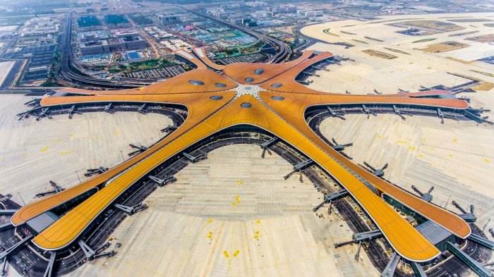 A futuristic new airport in Beijing, which is expected to become one of the busiest in the world, was opened by President Xi Jinping on September 25, 2019. (Photo AFP)