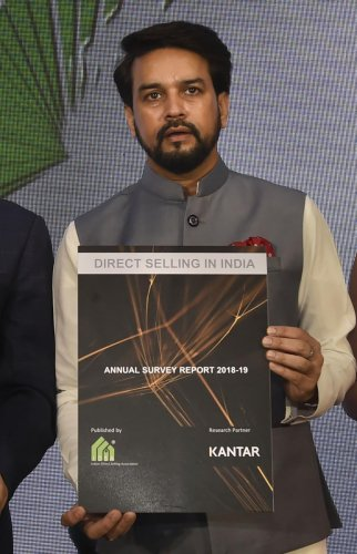 Minister of State for Finance Affairs Anurag Thakur (PTI Photo)