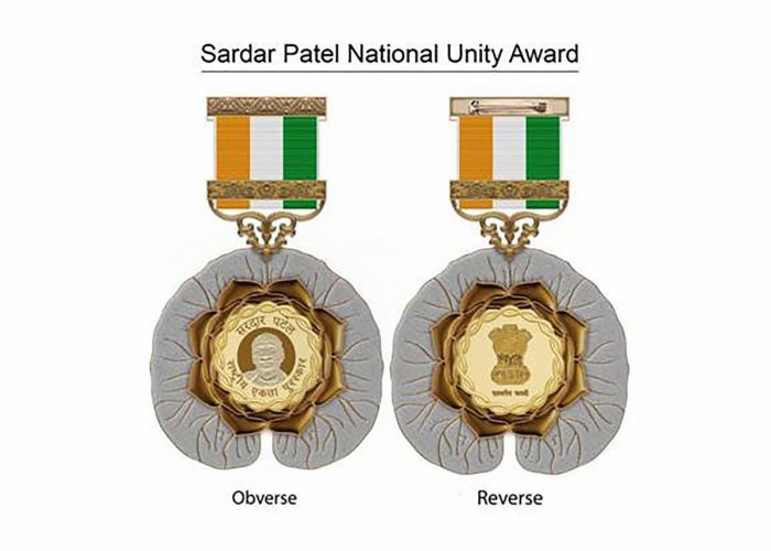 Government of India has instituted Sardar Patel National Unity Award, highest civilian award for contribution to 'Unity and Integrity of India'. (PIB/PTI Photo)