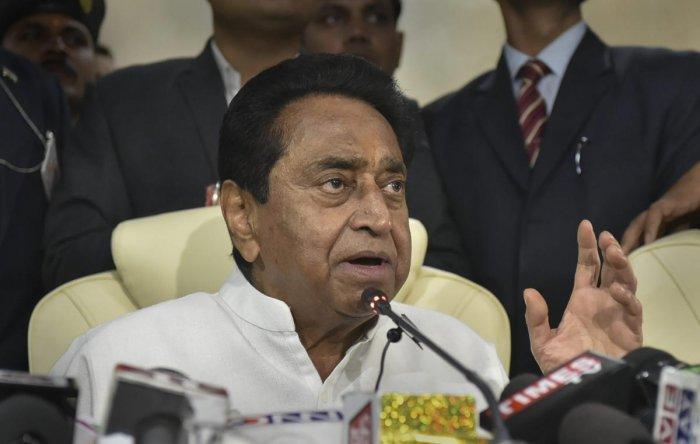 Madhya Pradesh chief minister Kamal Nath. PTI Photo