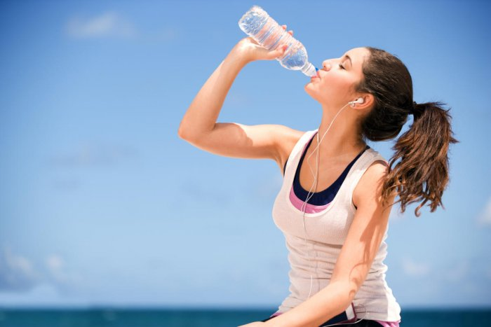 Drinking ample water andworking out regularly is amust for a healthy heart.
