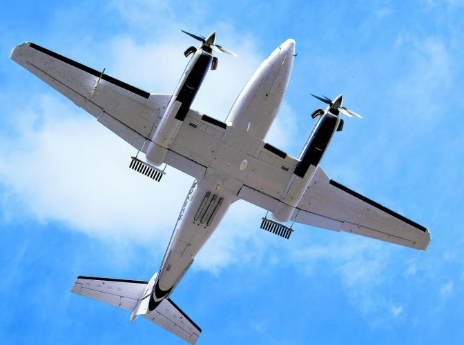 Special aircraft used for cloud-seeding. The cloud-seeding operations are being conducted in north Karnataka districts, despite torrential rain and floods in the region, since August 1. DH FILE PHOTO