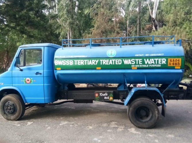 Tankers introduced by BWSSB to supply the treated water across the city.