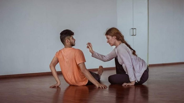 The dancers of 'Rorschach Touch'
