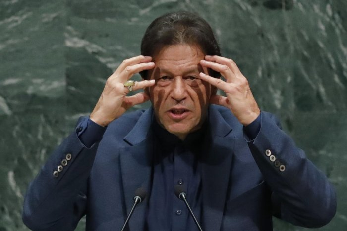 Image result for When Prime Minister Imran Khan addressed the United Nations, Modi spoke as the President of India