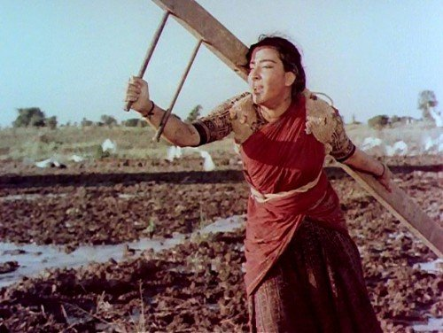 A scene from 'Mother India', the 1957 Indian submission that won a nomination.