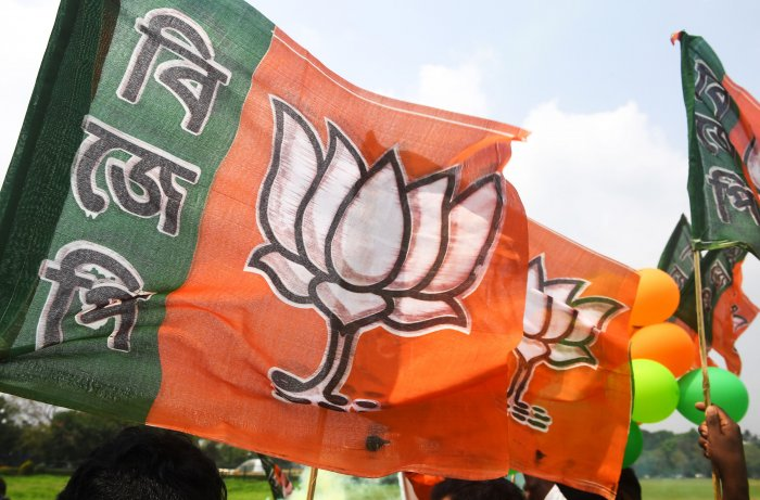 Bhartiya Janata Party flag. (PTI Photo)