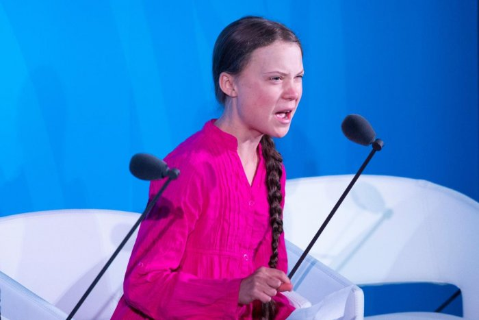 Youth Climate activist Greta Thunberg speaks during the UN Climate Action Summit on September 23, 2019 at the United Nations Headquarters in New York City. Photo/AFP