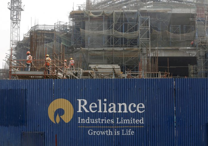 Leading the pack, RIL's market valuation zoomed by Rs 34,453.13 crore to Rs 8,29,632.75 crore, the most among the frontline entities. Photo/Reuters