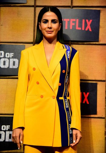 """Indian Bollywood actress Kirti Kulhari attends a screening of upcoming Indian spy thriller Netflix web series """"Bard of Blood"""" in Mumbai. (Photo by AFP)"""