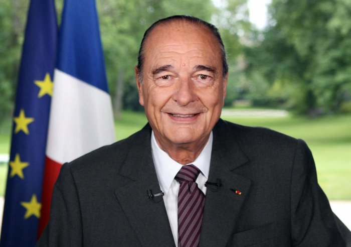 Late French President Jacques Chirac. Photo credit: PTI