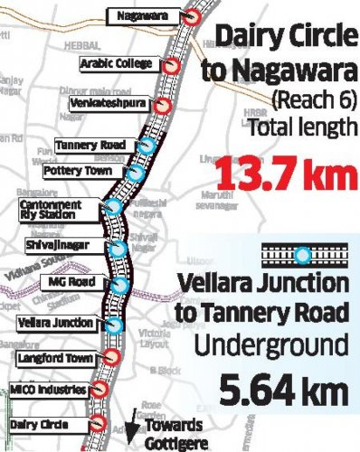 Gottigere Nagawara New Metroline (redline)