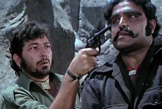 Viju Khote (R) as Kaalia in Sholay