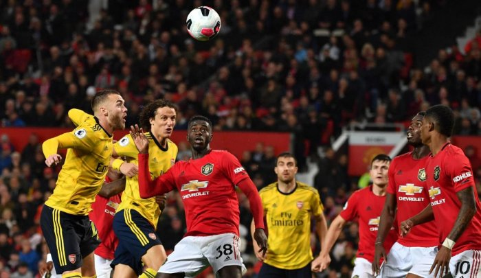 Manchester United vs Arsenal at Old Trafford. AFP Photo
