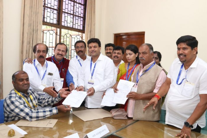 BJP's Gowtham Kumar files nomination for Mayor's post