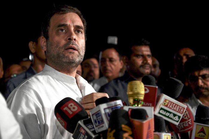 Rahul Gandhi. AFP file photo
